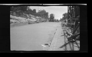 Primary view of object titled '[Workers paving Beacon Street in San Pedro, California]'.