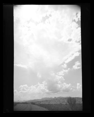Primary view of object titled '[A landscape of a road in a desert]'.