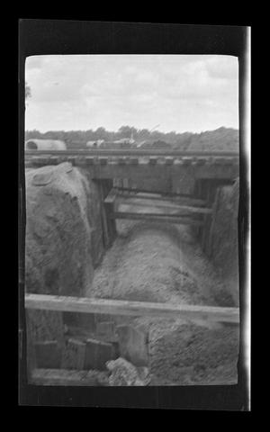 Primary view of object titled '[Photo of a construction site]'.