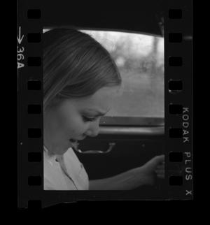 Primary view of object titled '[Portrait of Dana in a car]'.