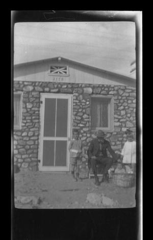 Primary view of object titled '[An old man and three small children]'.