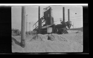 Primary view of object titled '[Heavy machinery on a construction site]'.