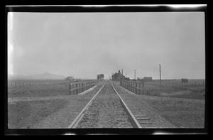 Primary view of object titled '[Photo of train tracks]'.