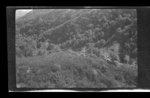 Primary view of object titled '[Landscape of a mountain side]'.