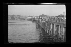 Primary view of object titled '[A pier over water]'.