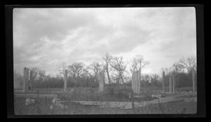 Primary view of object titled 'Briggs construction wood columns, Leon River bridge'.