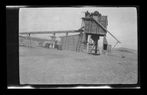 Primary view of object titled '[Photo of a construction site in a desert]'.