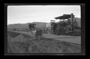 Primary view of object titled '[Photo of road construction in El Paso]'.