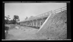 Primary view of object titled '[Photo of a bridge from below]'.