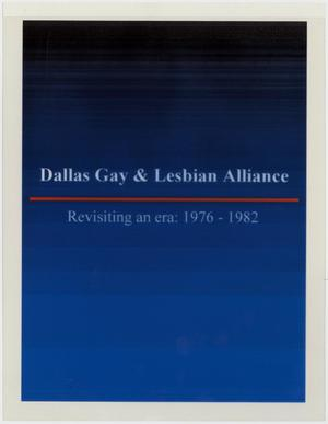 Primary view of object titled '[Dallas Gay and Lesbian Alliance - revisiting an era: 1976-1982]'.
