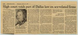 Primary view of object titled '[Newspaper: High court voids part of Dallas law on sex-related firms]'.