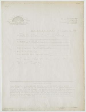 Primary view of object titled '[Newspapers: Xerographic of viatical settlement companies]'.