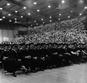 Primary view of object titled '[Students Seated at Their Commencement Ceremony]'.