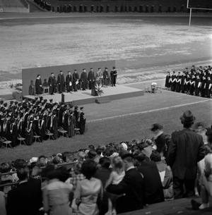 Primary view of object titled '[Commencement Ceremony on Fouts Field]'.