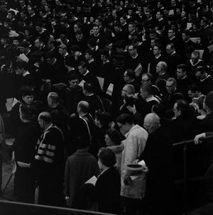Primary view of object titled '[Faculty Staff at Commencement Ceremony]'.