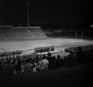 Primary view of object titled '[Commencement Ceremony in Fouts Field]'.