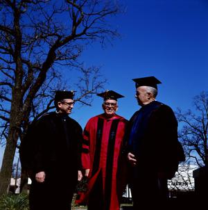 Primary view of object titled '[Faculty in Graduation Regalia for Commencement Ceremony, 2]'.