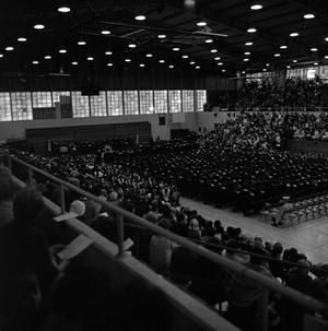 Primary view of object titled '[Family and Friends in Bleachers at Commencement Ceremony, 2]'.
