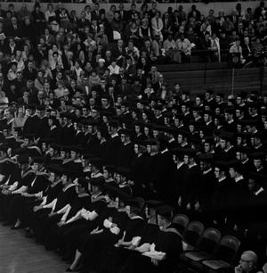 Primary view of object titled '[Students Seated at Commencement Ceremony]'.