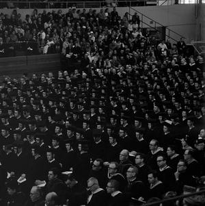 Primary view of object titled '[Graduating Class at their Commencement Ceremony]'.