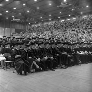 Primary view of object titled '[Students Seated at Their Commencement Ceremony, 2]'.