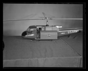 Primary view of object titled '[Scale model of an H-40 troop carrier]'.