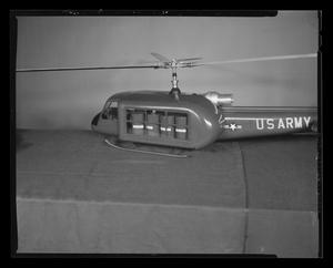 Primary view of object titled '[Scale model of an H-40 with cargo]'.