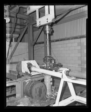 Primary view of object titled '[Transmission bench test for the 204 helicopter]'.