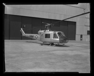 Primary view of object titled '[The YH-40 at Hurst Heliport]'.