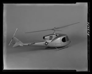 Primary view of object titled '[Model of the Bell 204 helicopter]'.