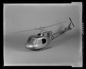 Primary view of object titled '[Model of the 204 helicopter]'.