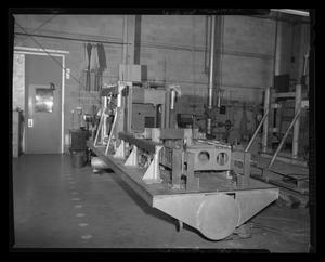 Primary view of object titled '[Machine for tooling parts for the Bell 204 helicopter]'.