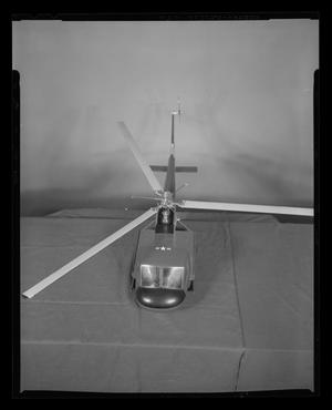 Primary view of object titled '[Top view of H-40 scale model]'.