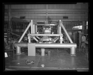 Primary view of object titled '[Parts being constructed for the Bell 204 helicopter]'.