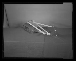 Primary view of object titled '[Side view of a scale model of the H-40]'.