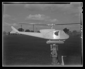 Primary view of object titled '[An X-40 utility mock-up on a tripod]'.