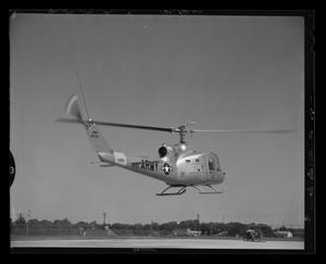 Primary view of object titled '[Rear view of the YH-40 #4 hovering]'.