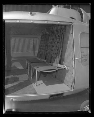 Primary view of object titled '[Interior of the cabin of the YH-40 with rear seats]'.