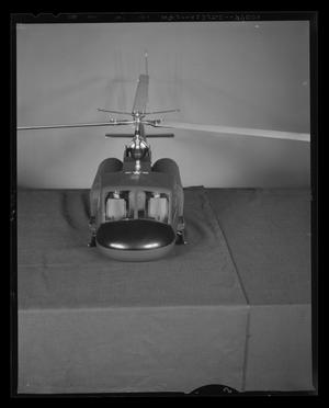 Primary view of object titled '[Front view of a scale model of the H-40]'.