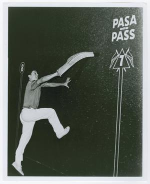 Primary view of object titled '[Man Playing Jai Alai]'.