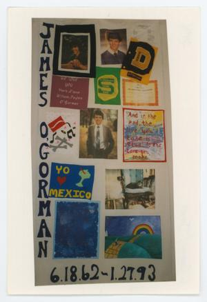 Primary view of object titled '[AIDS Memorial Quilt Panel for James O'Gorman]'.