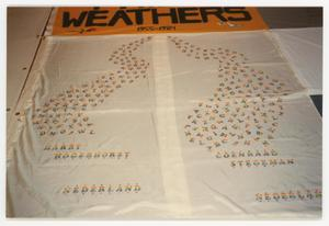 Primary view of object titled '[AIDS Memorial Quilt Panel for Harry Hogerhorst and Coenraad Stegeman]'.
