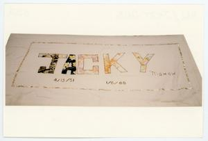 Primary view of object titled '[AIDS Memorial Quilt Panel for Jacky Dale Hill]'.