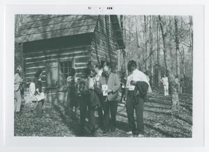Primary view of object titled '[Group of People at Cradle of Forestry]'.