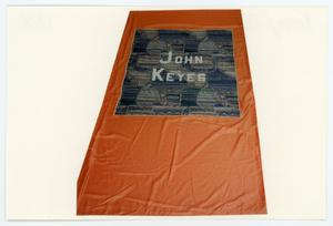 Primary view of object titled '[AIDS Memorial Quilt Panel for John Keyes]'.