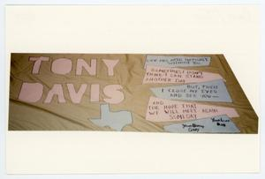 Primary view of object titled '[AIDS Memorial Quilt Panel for Tony Davis]'.