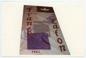 Primary view of object titled '[AIDS Memorial Quilt Panel for Frank Eaton]'.