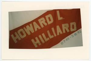 Primary view of object titled '[AIDS Memorial Quilt Panel for Howard L. Hilliard]'.