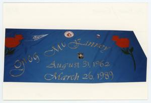 Primary view of object titled '[AIDS Memorial Quilt Panel for Gregory McKinney]'.
