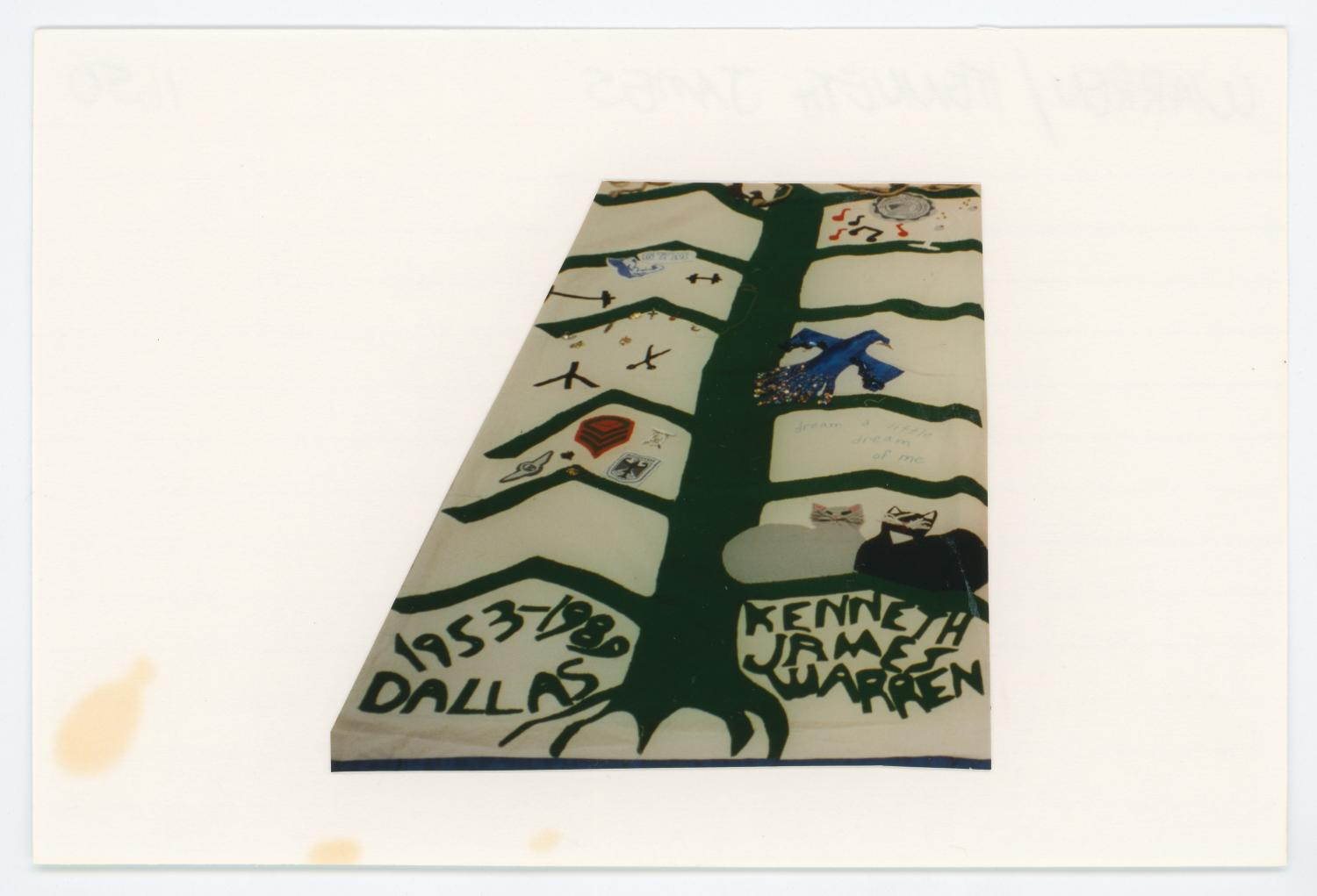 [AIDS Memorial Quilt Panel for Kenneth James Warren]                                                                                                      [Sequence #]: 1 of 2